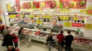 People make purchases at the store Stock Footage