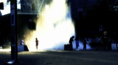 Fountain in Portland Stock Footage
