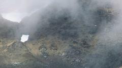 Misty Mountain Cliffs Stock Footage