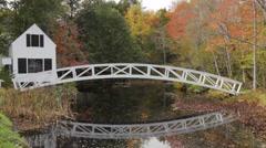 Somesville Bridge, Mount Desert Island, in Autumn Stock Footage