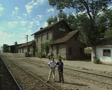 Quiet rural train station Footage
