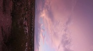 HD Vertical ctr The colorful desert monsoon clouds at dusk in timelapse Stock Footage
