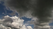 Dark clouds time lapse Stock Footage