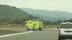 Fire and Rescue Vehicle(HD)c Stock Footage