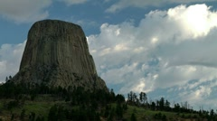 Devils Tower Time Lapse 02 Stock Footage