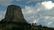 Stock Video Footage of Devils Tower Time Lapse 02