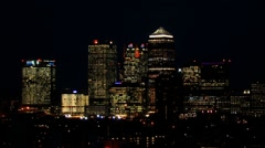 The City Of London Skyline At Night - stock footage