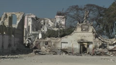 Collapsed buildings following the Haiti earthquake. - stock footage