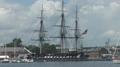 USS Constitution in Boston Stock Footage