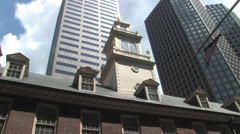 Old Sate House in Boston Stock Footage
