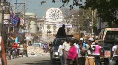 Damaged streets of Haiti following tragic earthquake. - stock footage