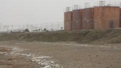 Oil wells in Prudhoe Bay Alaska(HD)c - stock footage