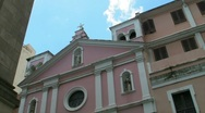 Stock Video Footage of Puerto RIco: Catholic Church in Old San Juan n fast moving clouds