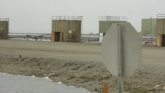 Oil wells in Prudhoe Bay  Alaska(HD)c Stock Footage