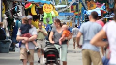People at the County Fair Stock Footage