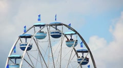 Ferris Wheel at the County Fair (V.01) Stock Footage
