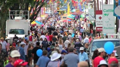 Crowded weekend at the County Fair - stock footage