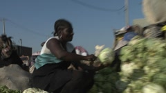 Poor Haitians live on the streets of Haiti following a devastating earthquake. Stock Footage