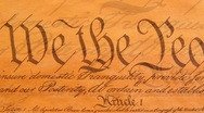Stock Video Footage of United States Constitution: We The People