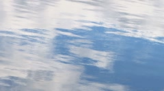 Clouds light metallic ripple water Stock Footage