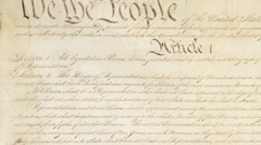 United States Constitution: We The People Stock Footage
