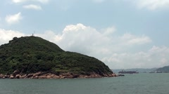 Island - ferry view - hong kong Stock Footage