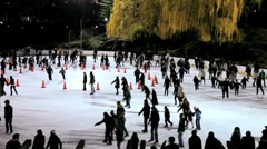 Wollman Ice rink in Central Park, New York, U.S.A, North America Stock Footage