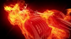 Fire race car 2 Stock Footage