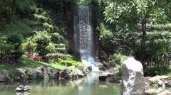 waterfall 2 - shatin, hong kong - stock footage