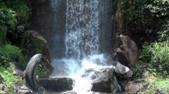 waterfall close up 1 - shatin , hong kong - stock footage