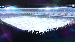 Hockey stadium. Sports event. Stock Footage