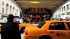 Yellow Taxi Cabs in New York, United States of America, North America Stock Footage