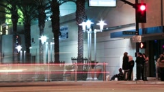 Homeless Girl (Time lapse) Stock Footage