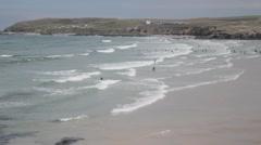 Surfing Beach Stock Footage