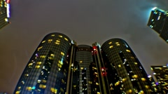 Fisheye of Bonaventure Hotel (Time lapse) Stock Footage