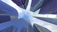 Movement between the skyscrapers Stock Footage