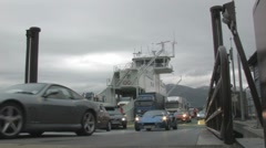 Driving off ferry 2 Stock Footage