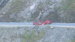 Ferrari aerial shot Stock Footage