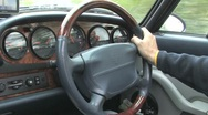 Stock Video Footage of porsche steering wheel