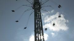 Theme park swing ride 2 Stock Footage
