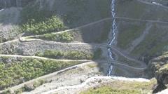 Twisty mountain road Stock Footage