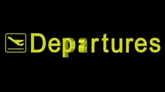 Departures word Stock Footage