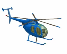 Blue helicopter Stock Footage