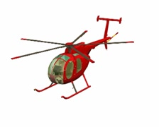 Red helicopter Stock Footage