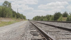 Train tracks on a Summers Day - stock footage