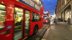 Double Deckers in London Stock Footage