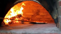 Wood Fired Pizza Oven Stock Footage