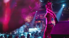 gogo dancer performing stage nightclub - stock footage