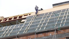 Roofers Stock Footage