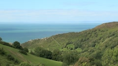 View Towards Valley of the Rocks - stock footage